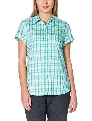 Jack Wolfskin Camicia Donna Verde/Bianco S