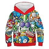 Sudaderas con capucha de la serie Super Zings con estampado 3D para niños, sudadera Unisex Superzings para hombres, juego de Anime informal, ropa de calle, camisetas para adolescentes child-140