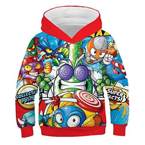 Sudaderas con capucha de la serie Super Zings con estampado 3D para niños, sudadera Unisex Superzings para hombres, juego de Anime informal, ropa de calle, camisetas para adolescentes XXS