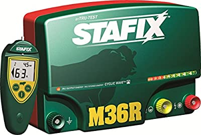 Stafix 36.0-Joule, Low-Impedance, 110-Volt AC Electric Fence Charger with Remote