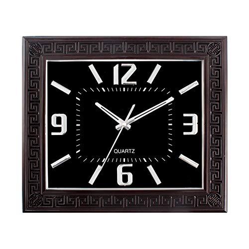 KDAQO 16 Zoll Kreative hohles Muster Uhr, 35 * 40,5 cm, Retro Clock Silent Wanduhr, Geeignet for Schlafzimmer und Wohnzimmer (Color : A)