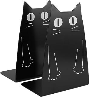 Katt metall bokstöd, medlem ett par söt katt mode stil bokstöd för skola bibliotek hylla hem kontor dekoration