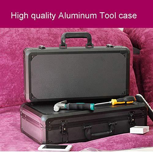 Toolbox LKU Aluminium Toolbox koffer Toolbox File Box slagvaste veiligheidskist apparatuur Camera Box 465 -235-120 mm Zwart met schuim
