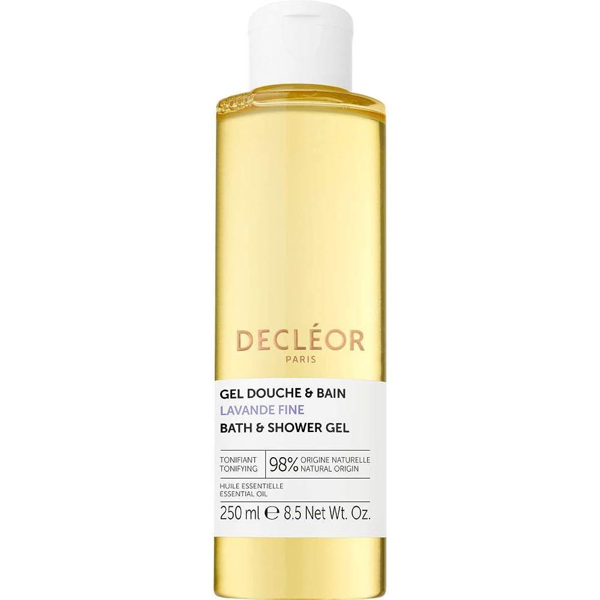 女王印をつけるリボン[Decl?or ] デクレオールラバンデ細かいバス&シャワージェル250ミリリットル - Decleor Lavande Fine Bath & Shower Gel 250ml [並行輸入品]
