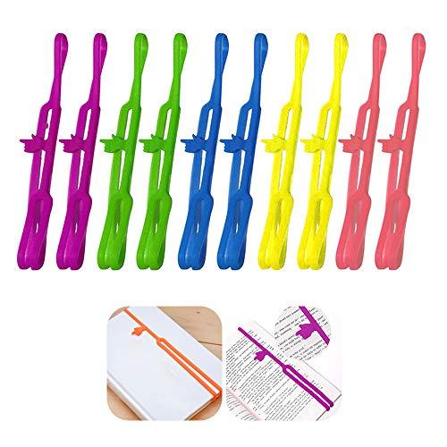 CRIVERS 10Pcs Innovative Silikon Finger Zeigen Lesezeichen Buch Marker für Bürobedarf Schulbedarf Schreibwaren Geschenk (Verschiedene Farben)