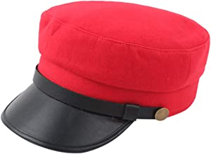 XGao Newsboy Caps, Vintage Beret Flat Mens NewsboyMen's Women's Cap Top Comfortable Breathable Hat Ivy Cabbie Driving Hunting for Boyfriend Girlfriend Gift (Red)