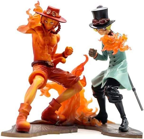 GDBHWF ONE Piece Portgas·D· Ace New sales Sabo 5.9in Super beauty product restock quality top! 2PC Flam Burning 15cm