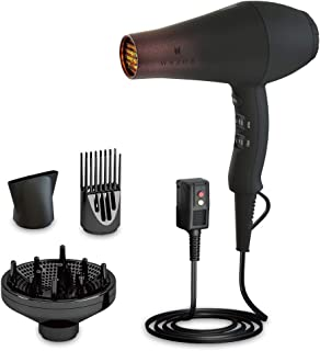 Wazor Professional Salon Hair Dryer with Diffuser Far Infrared Negative Ionic Blow dryer Gift Set Powerful 1875W AC Motor with Comb and Concentrator