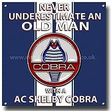 Shunry Cobra 427 Vintage Plaque Affiche /Étain M/étal Mur Signe R/étro D/écoration pour Bar Caf/é Garage Gaz Station Accueil Club