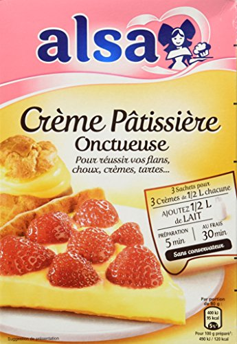Alsa Creme Patissiere Mix - French Pastry Cream Mix - 3 Sachets