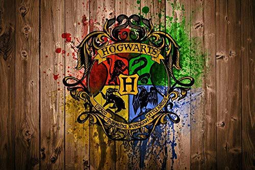 TOPHHH 75x50cm Puzzle 1000 Piezas Adultos y Niños Wooden Rompecabezas Juegos Familiares Educativos Anime Movie HD Poster Harry Magic Boy Plataforma 9-3/4