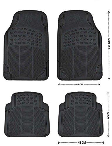 Automatten Schwarz Gummimatten Gummi-Fußmatten 4tlg. Neu Hochwertig