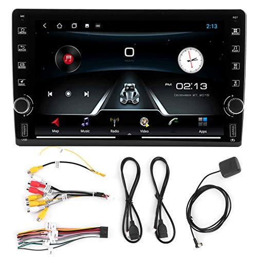 Yctze Reproductor de video Systerm de navegación GPS universal de 9 pulgadas con 2 botones giratorios para Android Operating Systerm Navegación automática por Bluetooth Reproductor de MP3 automático