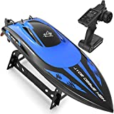 Fast Remote Control Boat for Pools & Lakes, 4CH 2.4Ghz High Speed 20mph RC Boat with 2 Rechargeable Battery, 400ft Range RC Racing Boat for Boys Kids Adults, Large Scale & Long Battery Life