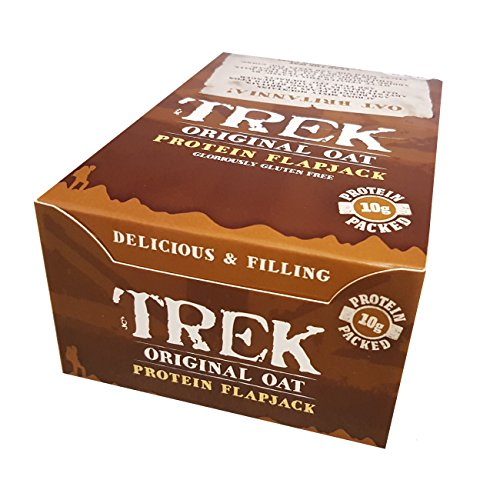 Original Oat - Trek Protein Flapjacks - Gluten & Wheat Free 50g (Pack of 16)