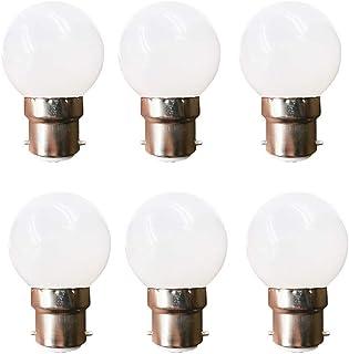 LED G45 Light Bulb 1 Watt Low Wattage Vanity Globe Tiny Light Bulbs 10 Watt Equivalent Small Night Lightbulb Bayonet Cap B...
