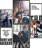 Papierschmiede® Premium Poster Set Fitness | 6 Bilder als