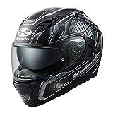 オージーケーカブト(OGK KABUTO)バイクヘルメット フルフェイス KAMUI3 CIRCLE(サークル) フラットブラックシルバー (サイズ:M) 585730