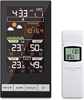 ECOWITT Digital Wireless Colour Weather Station Indoor Outdoor Temperature Thermometer Humidity, Ice Alert, Barometric Pre...