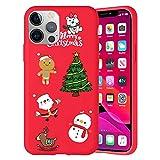 Pnakqil Navidad Funda para Apple iPhone 11 Pro 5,8',Antichoque Rojo Suave Silicona Carcasa con Diseño de Patrones Navideños Protectora Case Compatible con iPhone 11 Pro, Navidad 01