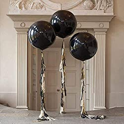 Giant black balloons