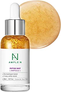 [AMPLE:N] Peptide Shot Ampoule 1.01 fl. oz. (30ml) - Visible Elasticity Care with Highly Concentrated Peptide Thread, Anti Wrinkle & Powerful Moisture Circulation, Youthful Radiant Skin