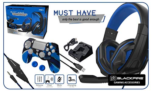 Blackfire Pack Accesorios PS4 BFX-15 Must Have