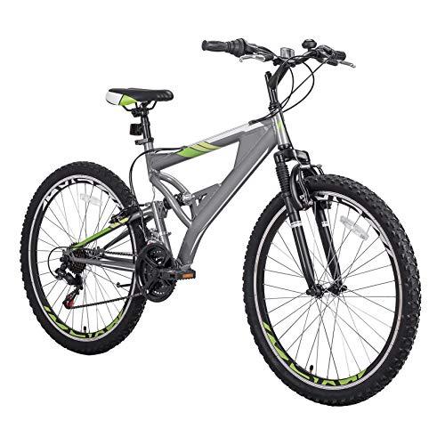 SuoANI Mountain Bike, Mens Mountain Bike, Womens Mountain Bike, 26 Inch Mountain Bike with Full Suspension 21-Speed Aluminum Frame Bicycle