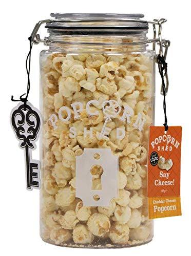 Popcorn Shed Vaso da regalo Gourmet per popcorn 1,5L | Scegli il tuo gusto (Say Cheese / Formaggio)