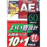 TDK カセットテープ いい音設計 60分 AE-60F 11巻入り