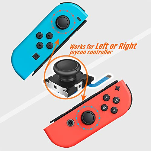 Joycon Joystick Replacement for Nintendo Switch,TEKPREM Repair Tool Kit for JoyCon Controller with 2-Pack Analog Thumb Sticks,Y00 Tripoint and Ph00 Phillips Screwdrivers,Screws,Tweezer and Pry Tools