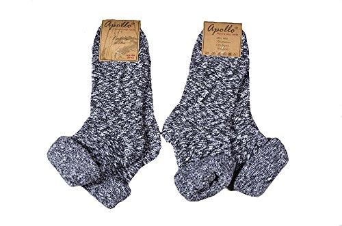 2 Paar weiche, warme Bouclè Umschlagsocken mit Wolle, aus warmem, naturbelassenem Knotengarn in...