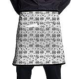 N\A Hamburguesas para Todos los Gustos Delantal de Camarero de Chef Cocina Cocina Restaurante Taberna Delantal de Camarero