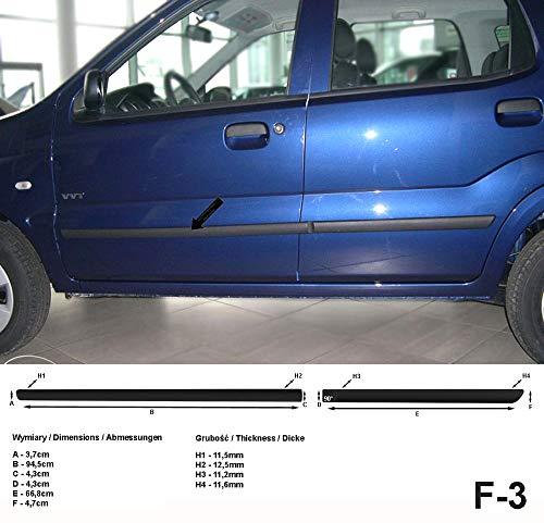 Preisvergleich Produktbild Spangenberg Seitenschutzleisten schwarz für Suzuki Ignis I & II SUV 5-Türer Baujahre 2000-2008 F3 (3700003)