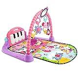 Sufei Baby Krabbeldecke Mit Musik,Piano Gym Baby Spieldecke Mit Licht Inkl. Spielzeug Babyausstattung,Rosa