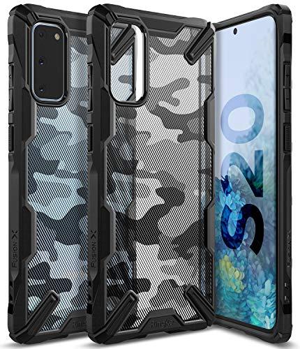 Ringke Fusion-X DDP fürs Galaxy S20 Hülle, Militär Muster Rückseite mit Verbesserter TPU Silikon Bumper Schutz für S20 5G 2020 - Camo Black