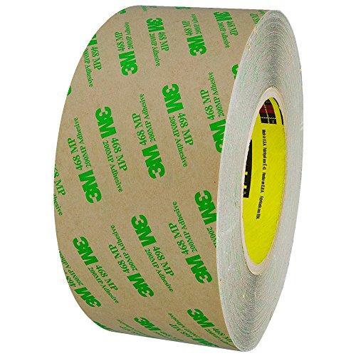 3M 468MP Adhesive Transfer Tape, Hand Rolls, 5.0 Mil, 3