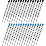 Sweetone 30 Piezas de Recambio de Bolígrafos de Bola Reemplazable Relleno de Metal de Pluma Recambios de Bolígrafos de Punta de Boda de Escritura (15 tinta azul, 15 tinta negra)