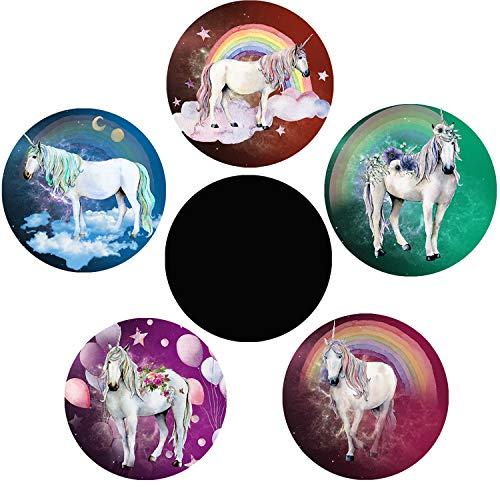Adesivo magico per vasino, motivo: unicorno, camion e vasino, adesivo cambia colore, confezione da 5 bersagli per WC per addestramento vasino, per bambini, uso con o senza vasino o vasino