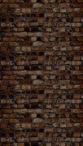 "Ella Bella Photography Backdrop Paper, Aged Brown Brick, 48"" x 12', 1 Roll"