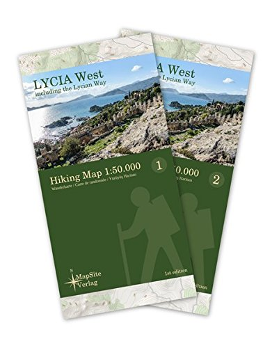 Lycia West Hiking Map 1:50.000: Wanderkarte inklusive dem Lykischen Weg