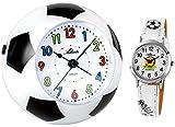 Atlanta Niños despertador sin tic tac) + Mundial de Fútbol Niños Reloj De Pulsera–1199Kau