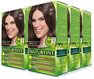 Naturtint Permanent Hair Color 5N Light Chestnut Brown (Pack of 6), Ammonia Free, Vegan, Cruelty Free, up to 100% Gray Cov...