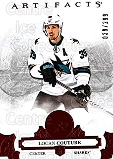 (CI) Logan Couture Hockey Card 2017-18 UD Artifacts Red 74 Logan Couture