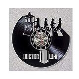 LKCAK Reloj de pared de vinilo con diseño moderno 3D de Doctor Who con colgante decorativo en 3D de vinilo, reloj de pared vintage para decoración del hogar, 30,4 cm