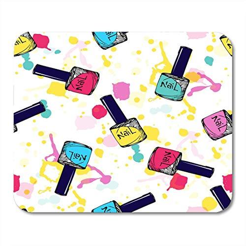 Mauspad nagellack kosmetikmuster nagellack skizze sommer neon blots mousepad für notebooks, Desktop-computer mausmatten, Büromaterial
