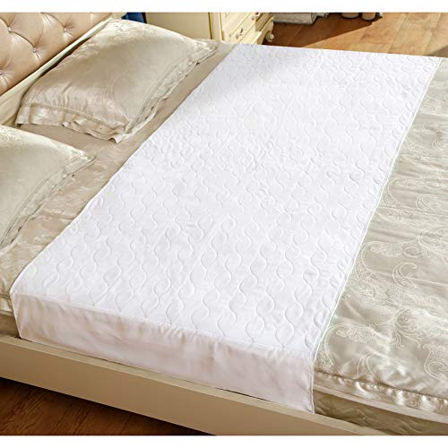 Washable Incontinence Bed Protector Pads - Reusable 34 x 52 Inches Waterproof Mattress Protector Pads with Tuckable Sides for Adult, Child, or Pet