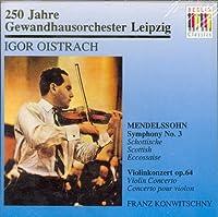 Sym.3, Violin Concerto: Oistrakh, Konwitschny / Lgo