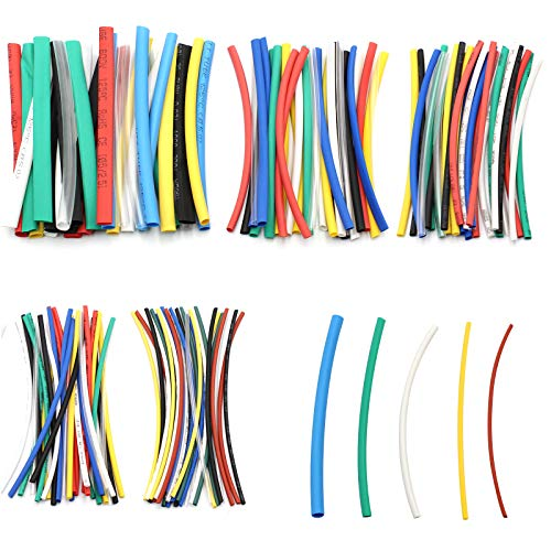 D-Orange 140 Piezas Multi-Color Tubo Termorretráctil Aislado 5 Tamaños Tubos Termorretráctiles de...