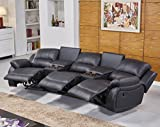 [page_title]-Mapo Möbel Ledersofa Kinosofa Relaxcouch Fernsehsofa 5129-Cup-3-S sofort